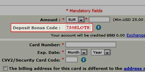 Party Casino Bonus Code: 750SLOTS