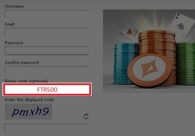 Party Poker Bonus Code: FTR500